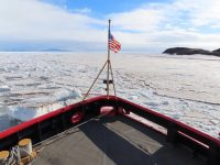 view of icy sound from polar star