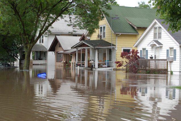 Flooding in Cedar Rapids, Iowa
