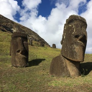 moai statue on Easter Island