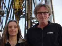 portrait of two scientists on board the joides resolution
