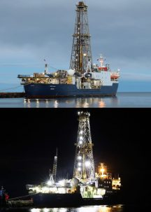 ship joides resolution during daytime and nighttime