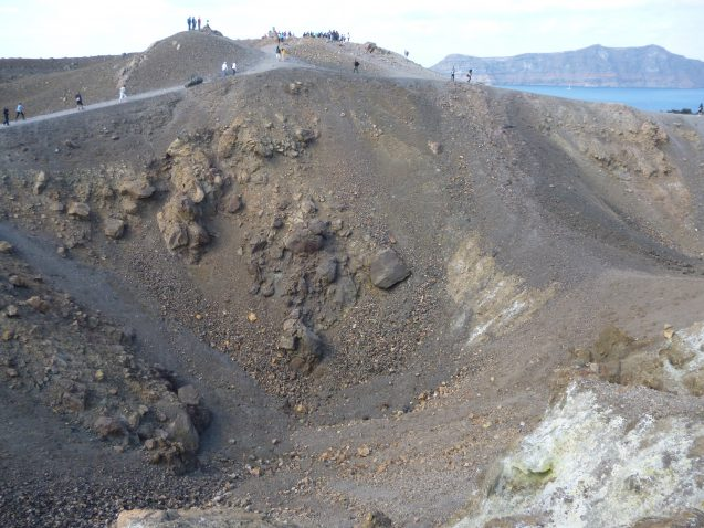 crater in greece