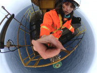 selfie on top of drill derrick