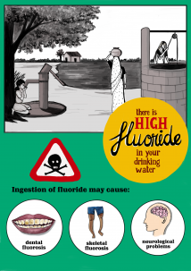 poster describing the harms of high fluoride
