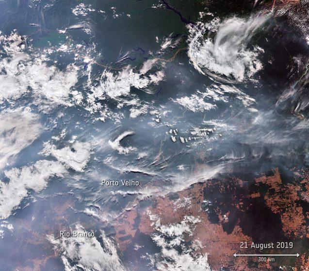 smoke over brazil