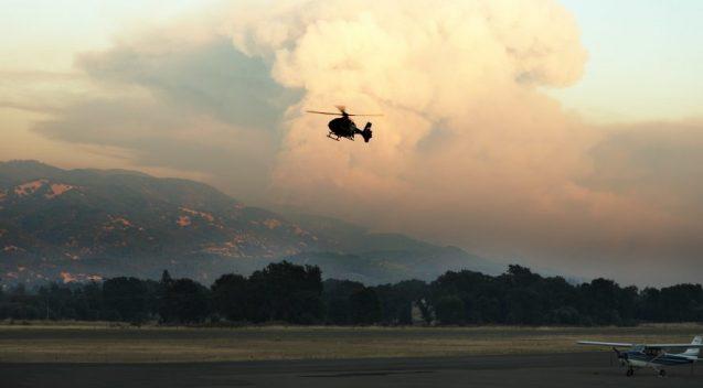 A 2018 wildfire burns in Ukiah, California