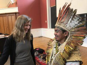 karenna gore with chief ninawa