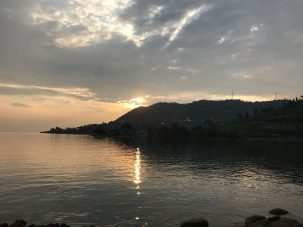Sunset at Lake Kivu