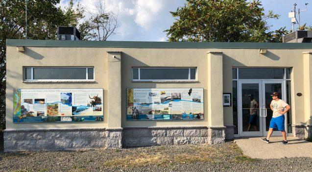 mural on outside of hudson river field station
