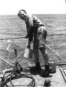 Walter Pitman aboard R/V Conrad1964