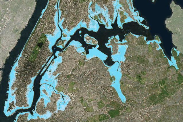 map of future flood levels in nyc
