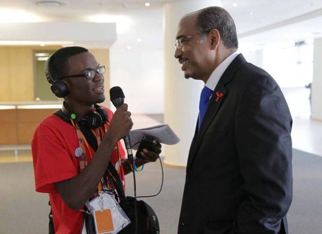 Brighton interviews a UN official
