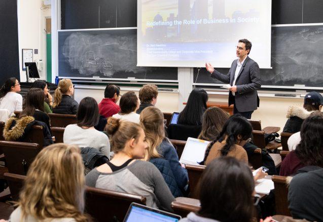 George Sarrinikolaou teaches the Practicum in Innovative Sustainability Leadership