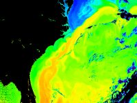 map of gulf stream temperatures