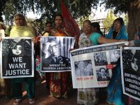 A women's rally on December 2, 2012 — the 28th anniversary of the Bhopal gas tragedy.