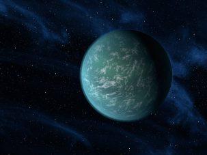 Artist's conception of planet Kepler-22b. Nasa/Ames/JPL-Caltech