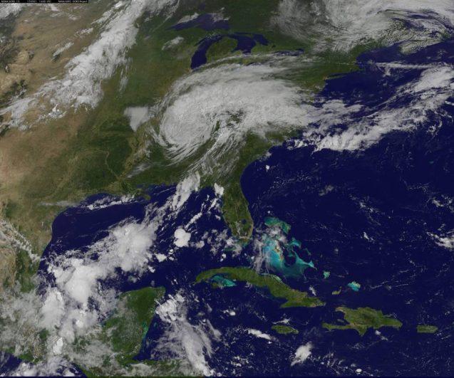 hurricane harvey over U.S.