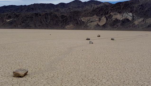 sailing stones in desert