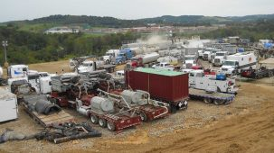 Fracking at a Marcellus Shale well, 2013
