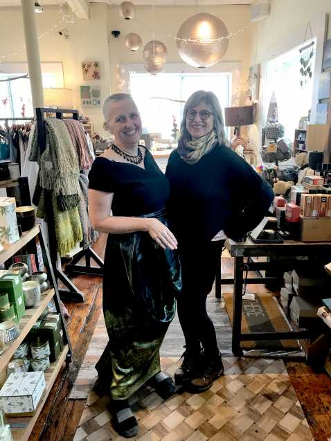 Robin Bell and dressmaker Maria Louisa