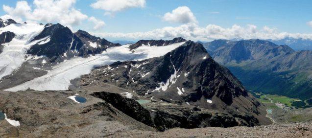 Schnalstaler Glacier in South Tyrol, Italy