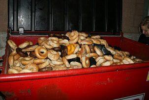 dumpster full of bagels