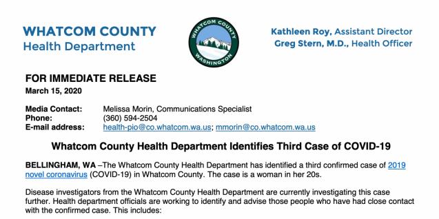 covid-19 advisory from whatcom county