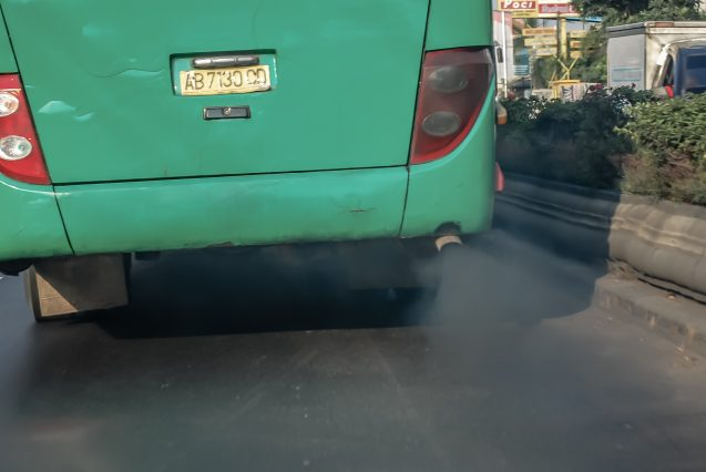 exhaust from tailpipe