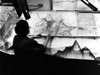marie tharp working on map