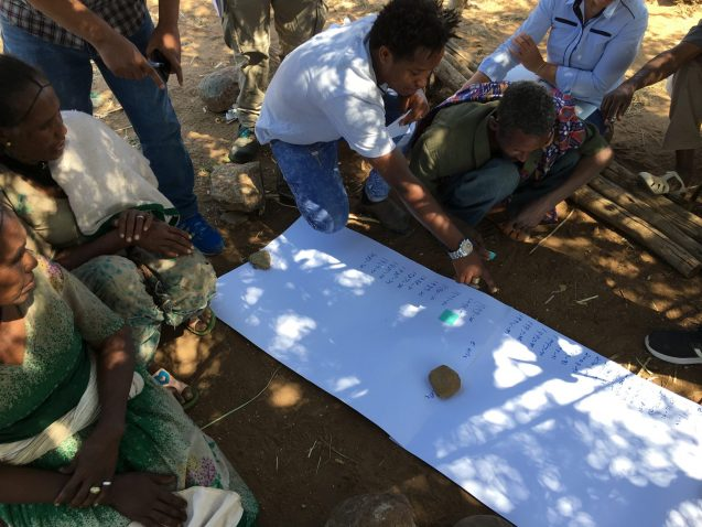 Village meeting in Agbe, Ethiopia