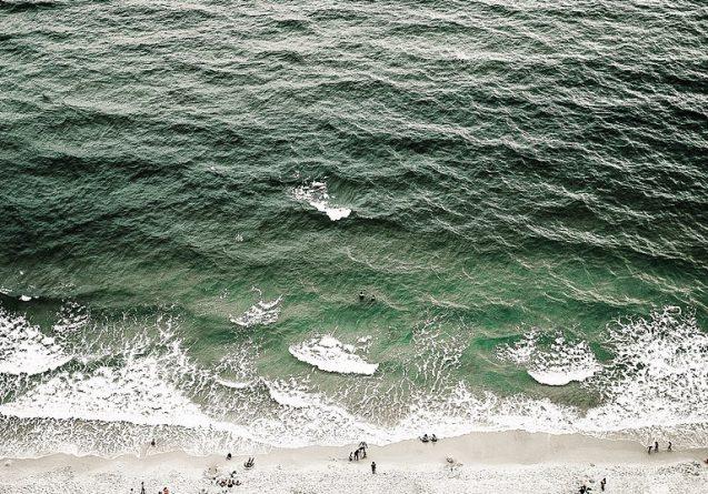 beach and ocean waves