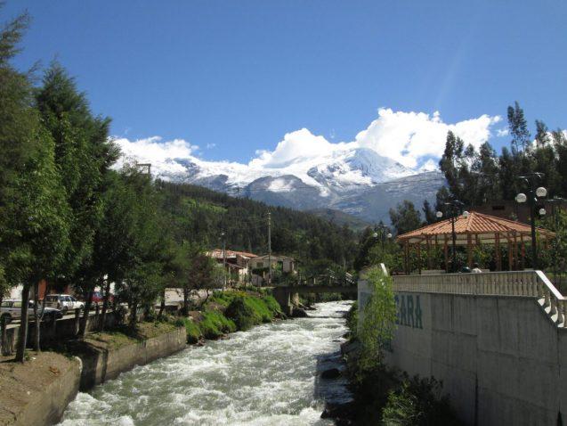 river runs through a town