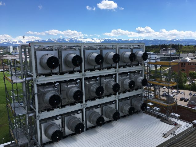 A Climeworks plant captures carbon out of the air