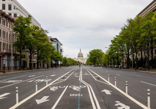 empty streets of washington dc