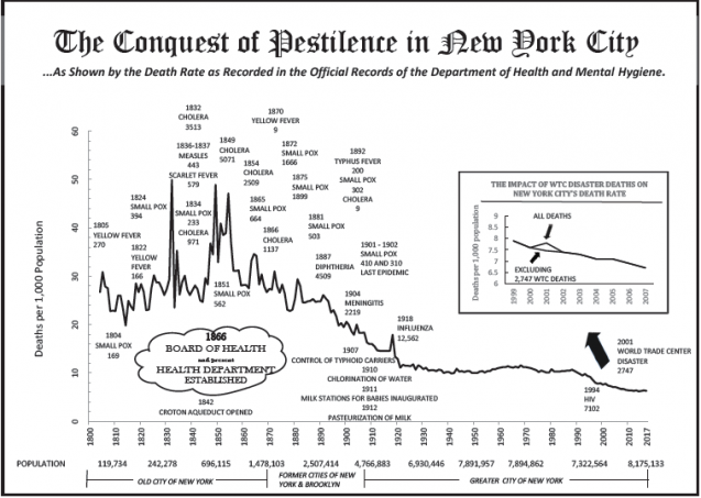 History of epidemics and public health measures in NYC