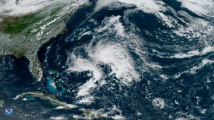subtropical storm in Atlantic