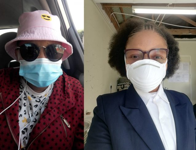 women wearing face masks