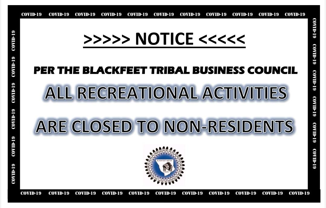 sign saying closed to non-residents