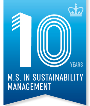 banner for 10 years in the M.S. in Sustainability Management