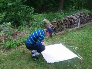 Cyrus Hadavi doing fieldwork