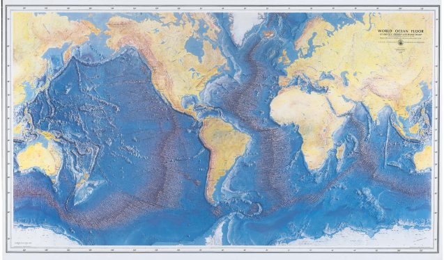 Tharp and Heezen's complete map of the ocean floor