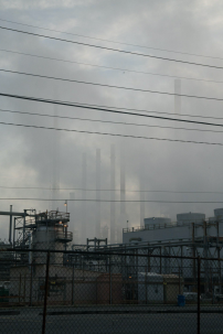 factory and smoke