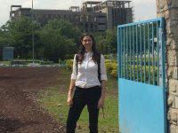 Paulina Concha Larrauri standing near a gate