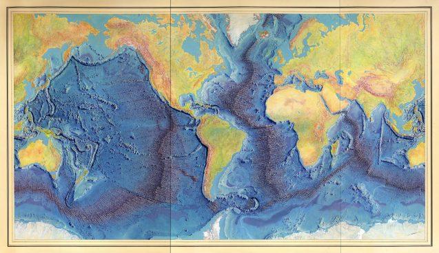 tharp 1977 world ocean map