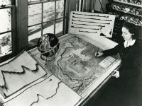 Marie Tharp with one of her maps