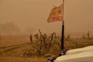 A giant sandstorm pummels northern South Sudan