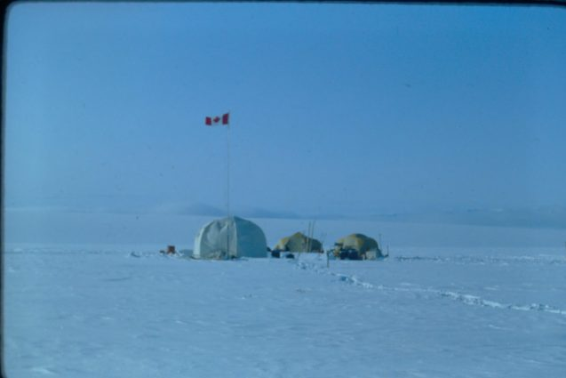 Research station on St. Patrick Bay ice caps. Source: