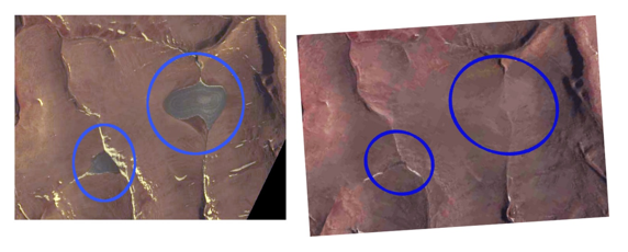 satellite images of ice caps disappearing
