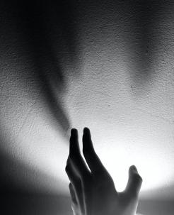 hand near light