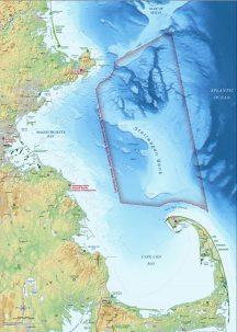 Map of Stellwagen Bank National Marine Sanctuary